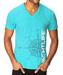 Nautical Compass Tahiti Blue